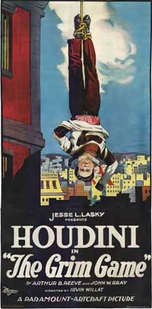 The Grim Game (1919) Stars: Harry Houdini, Thomas Jefferson, Ann Forrest, Mae Busch, Tully Marshall ~ Director: Irvin Willat