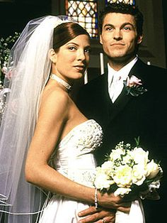 I Know this is cheesy, but I love Donna and Davids Wedding on the original Beverly Hills: 90210..... Makes my tear up everytime I watch it!!!