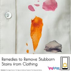 Here are some easy to follow instructions to rid your favorite clothing of stubborn stains! - https://tingtongg.wordpress.com/2017/01/17/easy-remedies-if-you-stain-your-clothes/  For #DryCleaning #Laundry in #Mumbai - Call or whatsapp on +91 7045 012 012 Text: Remedies to remove stubborn stains from clothing