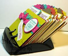 Rolodex for birthdays, cute idea that might be fun to make on your own.