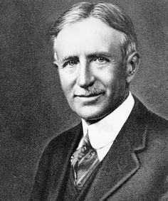 Portrait of Harvey Firestone of Akron, Ohio. Firestone founded the Firestone Tire and Rubber Company in 1900.