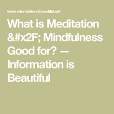 What is Meditation / Mindfulness Good for? — Information is Beautiful