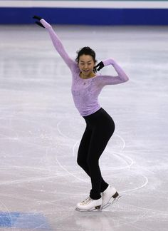 Mao Asada, of Japan, during a ladies practice session prior to the World Figure Skating Championships in Boston, Tuesday, March 29, 2016. (AP Photo/Charles Krupa) (807×1109)