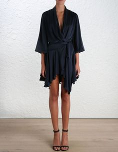Sueded Robe Dress - Ready to Wear