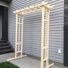 Knock down arbor for an upcoming wedding. Unique Furniture, Knock Knock, Arch, Crafting, Outdoor Structures, Building, Garden, Wedding, Decor