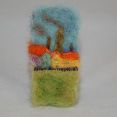 """Embroidered brooch - """"Industry"""""""