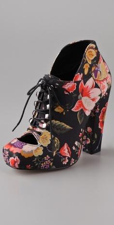 Rodarte for Opening Ceremony  Floral High Heel Booties  Style #:RODAR20047