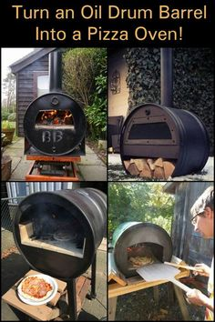 an oil barrel into a pizza oven! Turn an oil barrel into a pizza oven!,Turn an oil barrel into a pizza oven!, It's never too early for pizza🍕! Wood Fired Oven, Wood Fired Pizza, Wood Pizza, Pizza Pizza, Pizza Oven Outdoor, Outdoor Cooking, Outdoor Kitchens, Outdoor Rooms, Outdoor Living