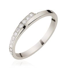 Alliance or blanc diamant Floralie