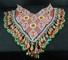 Pashtun tribal beaded necklace.