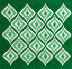 Vintage Bargello Needlepoint Abstract Design in by Splinkville
