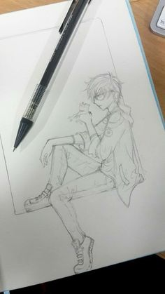 Поза кла��на� anime art in 2019 anime art, art sketches, man Anime Drawing Styles, Anime Drawings Sketches, Pencil Art Drawings, Anime Sketch, Manga Drawing, Manga Art, Cute Drawings, Anime Art, Disney Drawings