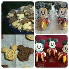 Galletas de mantequilla y de chocolate  de Mickey y Minnie