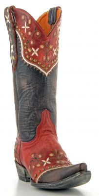 Womens Old Gringo Vera Boots Chocolate And Red