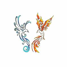 TCOOL Colorful Watercolor Phoenix Dragon Temporary Tattoos for Kids Women Hand Tatoo Sticker . - TCOOL Colorful Watercolor Phoenix Dragon Temporary Tattoos for Kids Women Hand Tatoo Sticker Body A - Small Phoenix Tattoos, Phoenix Tattoo Design, Small Tattoos, Phoenix Tattoo Girl, Watercolor Phoenix Tattoo, Diy Tattoo Permanent, Temporary Tattoo, Body Art Tattoos, Hand Tattoos