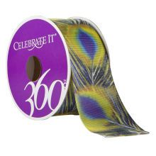 Celebrate It 360 Grosgrain Ribbon, Peacock