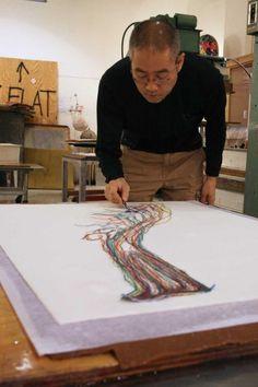 Thread drawings by Do Ho Suh Do Ho Suh, Korean Artist, Make Art, Contemporary Art, Illustration Art, Wind Chimes, Drawings, Art Work, Garden