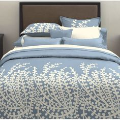 beautiful French blue bed linens