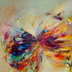 "Saatchi+online+artist+victoria++horkan;+painting,+""butterfly+series+1""+#art"