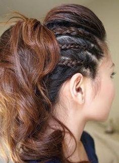 triple trenza en el pelo Más