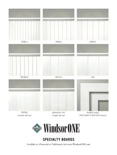A side by side comparison of the WindsorONE specialty boards: tongue & groove, shiplap & beaded casing. For wainscoting, walls & ceilings, available in Traditional or +Protected with a 30yr warranty (beaded casing available in Traditional only). #wainscoting