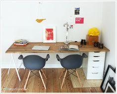 DIY Schreibtisch Holz Bock