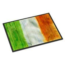 Irish Flag on Wood Indoor/Outdoor Doormat