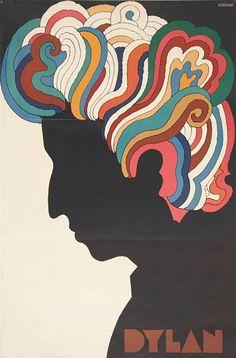 For Sale on - Vintage Bob Dylan Souvenir Poster (Milton Glaser Bob Dylan Lithograph by Milton Glaser. Bob Dylan Art, Bob Dylan Poster, Milton Glaser, Posters Vintage, Retro Poster, Pop Art, Vintage Bob, Bold Logo, Kunst Poster