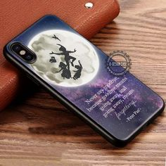 Never Say Goodbye Peter Pan Quote IPhone X 8 7 Plus 6s Cases Samsung Galaxy  S8 Plus S7 Edge NOTE 8 Covers #cartoon #disney #peterpan #quote #iphonecase  ...
