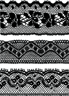 Black Lace Backgrounds vector material 04