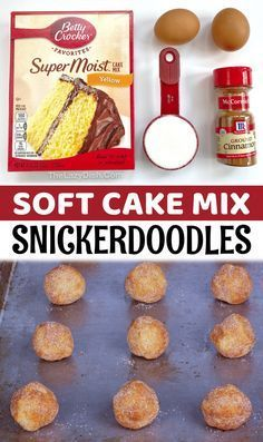 Cake Mix Desserts, Cake Mix Cookie Recipes, Cake Mix Cookies, Cookie Desserts, Yummy Cookies, Cookies Et Biscuits, Cake Mixes, Cupcakes, Cookie Ideas