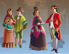 vestimenta colonial argentina - Buscar con Google