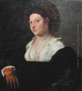 Francesco Torbido. Portrait of a Woman with a Glove (originally thought to be a portrait of Isabella d'Este). oil on canvas, Isabella Stewart Gardner Museum, Boston.