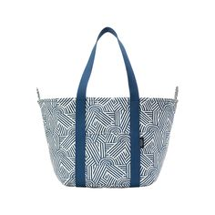 Canvas Snap Tote in Block Print