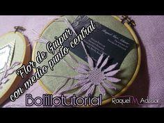 Flor de Guipur con Medio Punto central Camariñas - Bolillotutorial Raquel M. Adsuar - YouTube