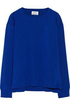 Acne|Misty zipped stretch-knit sweater|NET-A-PORTER.COM