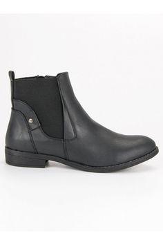 Pohodlné čierne topánky Groto Gogo Chelsea Boots, Platform, Ankle, Shoes, Fashion, Moda, Zapatos, Wall Plug, Shoes Outlet