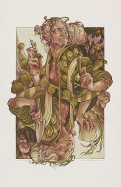 Wicked Kingdom Queen of Spades playing card illustration by artist Wylie Beckert