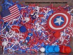 Captain America Sensory bin from Suzy Homeschooler