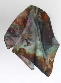 carina nebula scarf by pillars of creation.