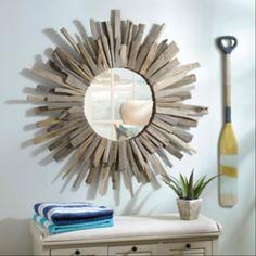 Rustic Sunburst Mirror