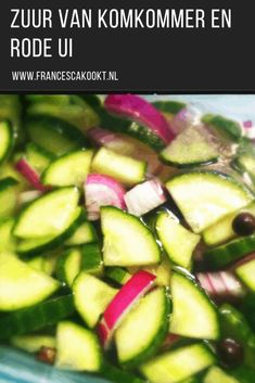 Zuur van komkommer en rode ui - Francesca Kookt Chicken Recipes For Two, Healthy Chicken Recipes, Easy Japanese Recipes, Asian Recipes, Diner Recipes, Cooking Recipes, Vegan Sushi, Vegan Baby, How To Cook Rice