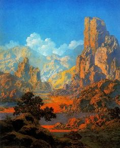 Maxfield Parrish - Arizona - 1950