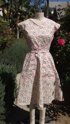 wrap dress from nudeedudee via etsy.