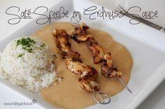HibbyAloha: {Food Friday} Saté-Spieße in Erdnuss-Sauce