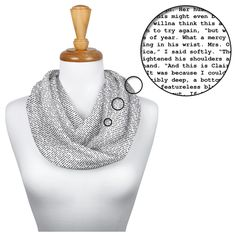 This scarf is created entirely from the text of Voyager. Up to 40,000 words per scarf.