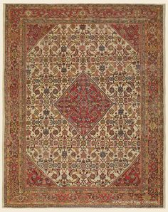 """SULTANABAD, 10' 6"""" x 13' 3"""" — Late 19th Century, West Central Persian Antique Rug - Claremont Rug Company"""