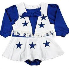 4078ab128 Dallas Cowboys Authentic Cheerleader Outfit. Cowboy Baby ClothesCowboy ...