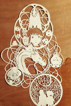 paper cut Spirited Away - Studio Ghibli Themed art