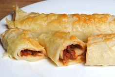 ChocoLanas matblogg: Gratinerte pannekaker med kjøttsaus